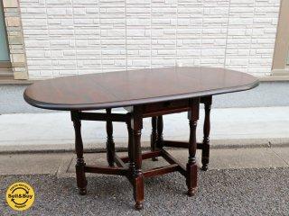 北海道民芸家具 バタフライテーブル 伸長式 ダイニングテーブル 樺 無垢材 ◎