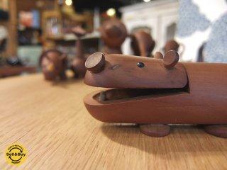 ロイヤルペット ROYALPET  カバ HIPOPOTAMUS 木製玩具 ♪