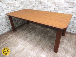 日田工芸 チーク無垢材 ダイニングテーブル 幅180cm 日本のヴィンテージ家具 北欧スタイル ●