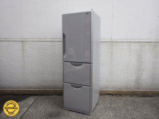 日立 HITACHI 302L 3ドア 冷凍冷蔵庫 自動製氷 真空チルド R-S300DMV 2013年製 メタリックグレー ●