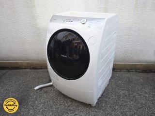 東芝 TOSHIBA 9kg ドラム式洗濯機 ザブーン ZABOON TW-Z390L 左開き 2014年製 ●