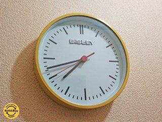 ビスレー BISLEY 壁掛け時計 20cm径 BISLEY CLOCK イエロー ◎