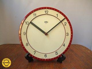 ブラウン BRAUN ヴィンテージ ウォールクロック ABK30 レッド 壁掛け時計 ディートリッヒ・ルブス ディーターラムス デザイン ドイツ製 ■