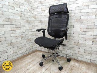 オカムラ OKAMURA コンテッサ CONTESSA ジウジアーロ オフィスチェア 大型ヘッドレスト付 ●