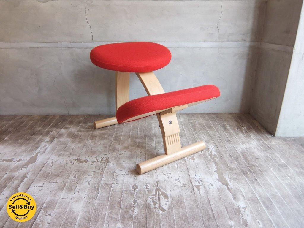 リボ Rybo バランス イージー チェア Balans EASY 学習椅子 デスクチェア レッド ♪