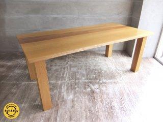 日進木工 NISSIN ダイニングテーブル ホワイトウッドシリーズ オークxウォールナット 無垢材 飛騨高山 ♪