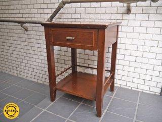 USビンテージ サイドテーブル ナイトテーブル ランプテーブル 引出し付き ■