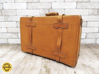 ヴィンテージ レザー トランクケース 旅行バッグ 本革 ディスプレイ ●