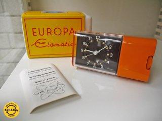 EUROPA UHREN elomatic ビンテージクロック 卓上時計 T710 ドイツ製  196-70年代 デッドストック ■