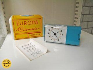 EUROPA UHREN elomatic ビンテージクロック 卓上時計 T310 ドイツ製  196-70年代 デッドストック ■