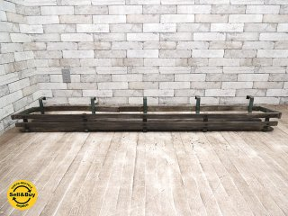UKアンティーク ウィンドウプランターラック 木x鉄 花台 プランター台 ディスプレイ棚 什器 ビンテージ カントリー シャビー B ●