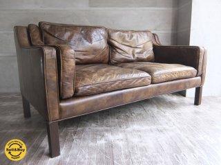 ハロ HALO ジャーナルスタンダードファニチャー  journal standard Furniture ダブルネーム アイメッシュ IMESH レザー 2人掛け 2P 2シーター ソファ 本革 ♪