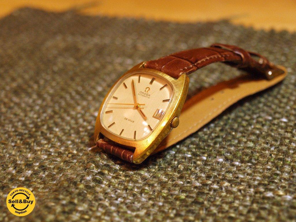 オメガ OMEGA デビル DE VILLE 自動巻き AUTOMATIC SWISS MADE デイト メンズ 腕時計 クラシック ★