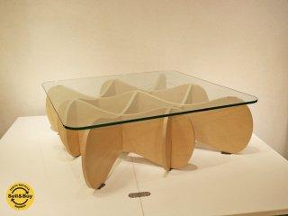 イーアンドワイ E&Y マトリックステーブル MATRIX TABLE Sサイズ プライウッド ナチュラル ベージュ ◎