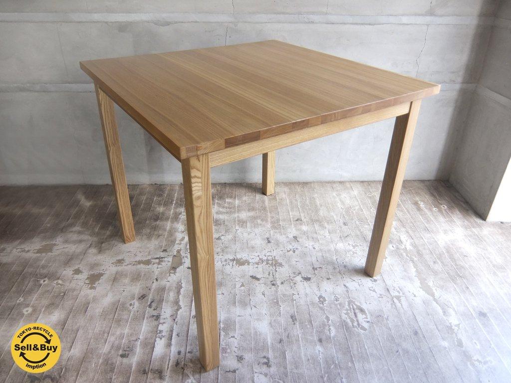 無印良品 MUJI タモ 無垢材 ダイニングテーブル 幅80cm 廃盤♪