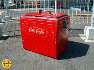 コカ・コーラ Coca-Cola エンボスロゴ クーラーボックス ボトルオープナー付 ICE US ヴィンテージ ★