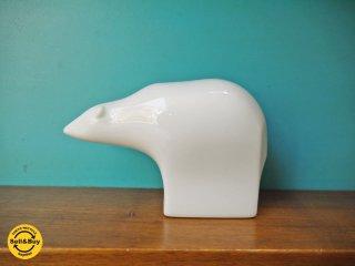 ダンスク DANSK ポーラーベア 貯金箱 陶器製 Gunnar Cyren ビンテージ japan ■