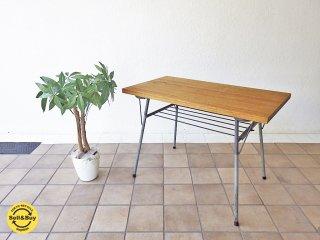 古材×スチールレッグ インダストリアル リメイクテーブル カフェテーブル ◇