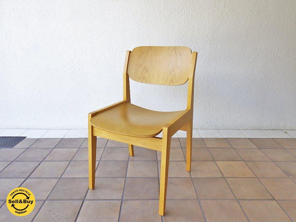天童木工 TENDO ブックチェア 図書館椅子 ダイニングチェア ナチュラル 水之江忠臣 B ◇