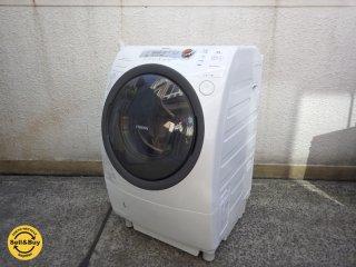 東芝 ドラム型洗濯乾燥機 9� ザブーン ZABOON ヒートポンプドラム TW-370L 左開き 2011年製 ●