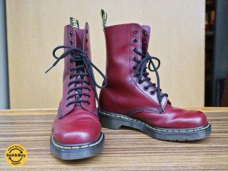 ドクターマーチン Dr.martens  1490 10EYE BOOTS 10ホールブーツ レディース ブーツ チェリーレッド 美品 23cm ◎
