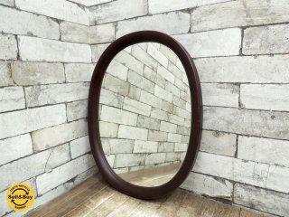 秋田木工 Akimoku オーバル ウォール ミラー 鏡 小判型 柳宗理 古代色 ●