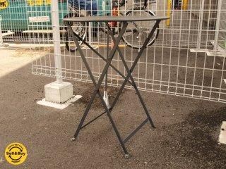 フランス フェルモブ社 Fermob製 ビストロ フォールディング テーブル 径 60cm 折畳テーブル リコリッシュブラック 保管品 ★
