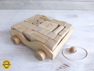木のおもちゃ 積み木セット 積木車 知育玩具 ♪
