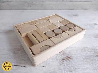 ニチガン NICHIGAN オリジナル 積み木 無塗装 木のおもちゃ 知育玩具 ♪