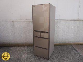 日立 HITACHI 415L 冷凍冷蔵庫 R-S4200E XN 2015製 自動製氷 真空チルド ●