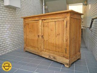 UKアンティーク オールドパイン サイドボード キャビネット 木味 クラフト 店舗什器 ■