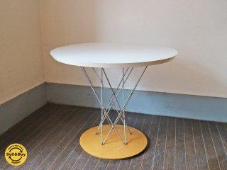 モダニカ MODERNICA サイクロン エンドテーブル ホワイト × メープル イサムノグチ デザイン ◎