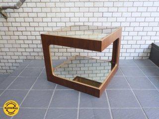 モーダ エン カーサ moda en casa ダイス50 daice50 ミラーガラス ウォールナット コーヒーテーブル ■
