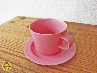 イイホシユミコ アンジュール Unjour マーティンカップ matin cup マグカップ 限定カラー ピンク カップ&ソーサー ◇