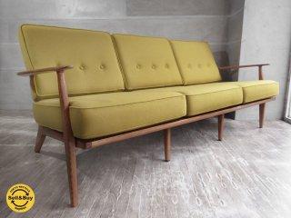 アクメ ファニチャー ACME Furniture デルマー DELMAR 3P ソファ クッション ファブリック新品張替え済♪
