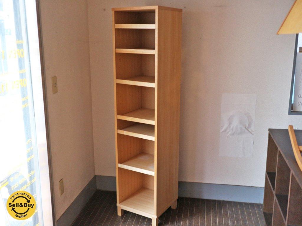 無印良品 MUJI 組み合わせて使える木製収納 スリム キャビネット ◎