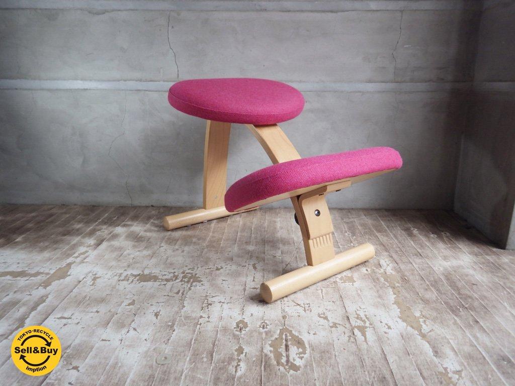 リボ Rybo バランス イージー チェア Balans EASY 学習椅子 デスクチェア ピンク ミックス ファブリック ♪