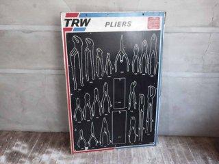 TRW オートモーティブ フォールディングス PLIERS ツール ウォールラック ウッドボード US 工具 什器にも ♪