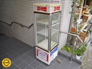 三洋電機 SANYO 冷蔵ショーケース バドワイザー 4面ガラス 什器 ■