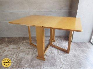 コスガ KOSUGA バタフライ ダイニングテーブル 折り畳み コンパクトテーブル バーチ材♪