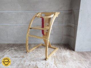 シン Shin Eチェア ベビーチェア 木馬 ガード ベルト付 佐々木敏光デザイン ニューバンビーニ♪