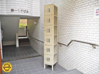 リオン LYON スチールロッカー 6段 six tier lockers アイボリー Putty メッシュ ダイヤカットドア USA パシフィックファニチャーサービス PFS 取扱い ■