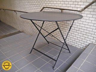 フェルモブ Fermob ビストロ ラウンドテーブル Bistro Round table 折畳み ガーデンテーブル スチール製 直径96 定価48600円 ■