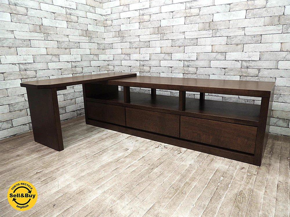 葉山ガーデン HAYAMAクラシック スライドAVボード TVボード オーク材 モダンデザイン オーディオラック リビングボード ●