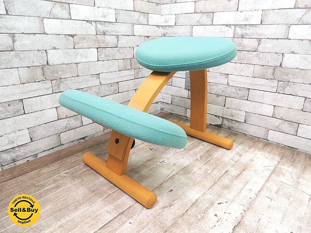 リボ Rybo バランスイージー バランスチェア デスクチェア ノルウェー グリーン色 学習椅子に最適 ●