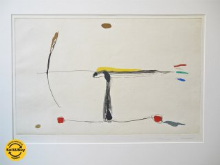 リエラ・イ・アラゴ Josep Riera i Arago 飛行機 AVIONES 版画 額装 抽象絵画 サイン入り H.C 10/10 非売品 スペイン 現代彫刻家 画家 現代アート ■