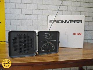 ブリオンベガ BRIONVEGA ts522 キューブラジオ Radio Cubo ホワイト 箱付き AM・FM対応 イタリア製 復刻 ■