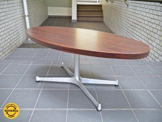 スウィッチ SWITCH TAテーブル リビングテーブル カフェスタイル メラミントップ 楕円 ■