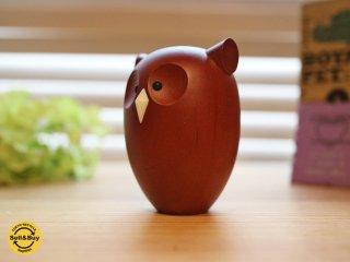 ロイヤルペット ROYALPET  フクロウ HORN OWL 木製玩具 箱付 ◎