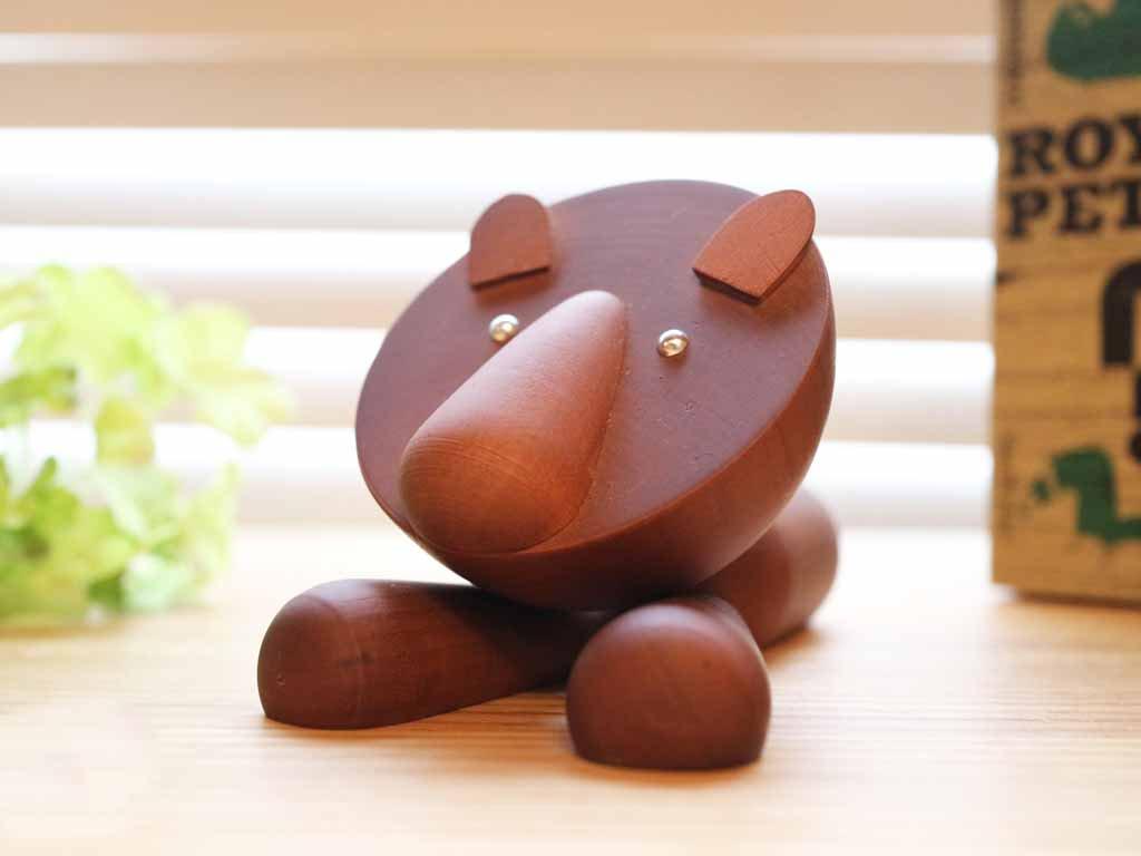 ロイヤルペット ROYALPET ライオン LION 木製玩具 箱付 ◎